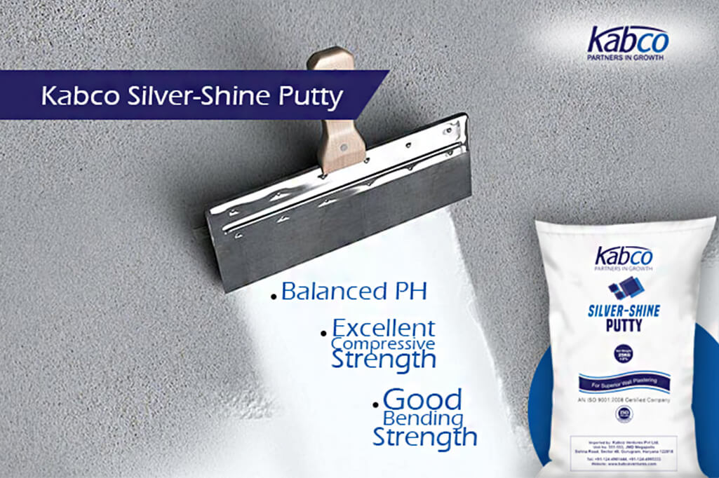 Silver-shine Putty – Your wall's best friend!